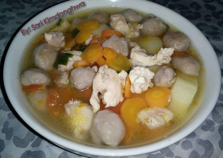 Sop Ayam Baso Mutiara