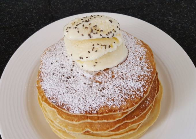 Recipe: Perfect Pancakes with homemade ice cream