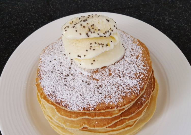 How to Make Any-night-of-the-week Pancakes with homemade ice cream