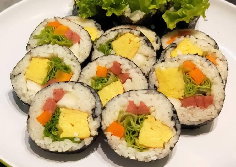 Resep Kimbab Makanan Korea Simple Oleh Fu Kamila Cookpad