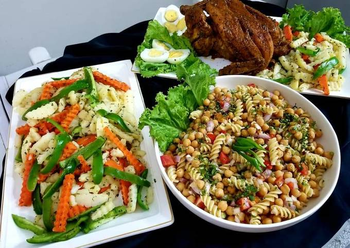 Moroccon chicken roast with chick pea salad