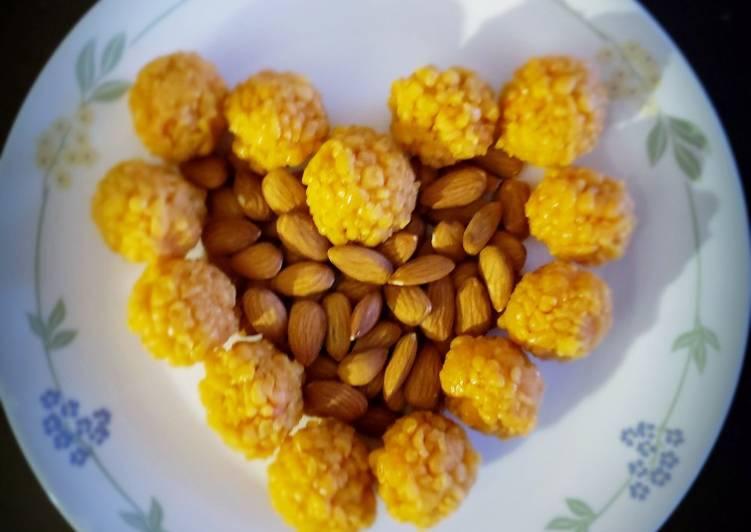 Recipe of Perfect JAGGERY BOONDI LADDOS♥️