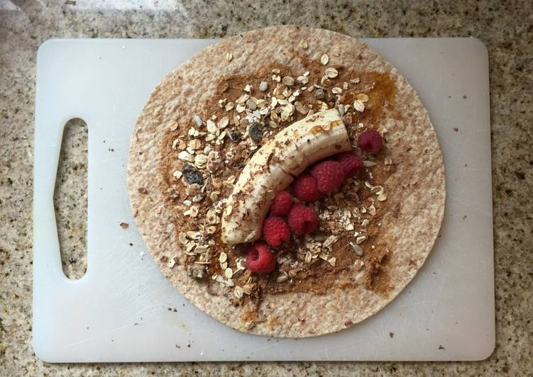 Recipe: Perfect Granola banana wrap