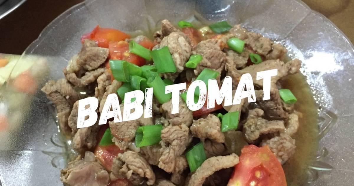 Resep Babi Tomat Oleh Ritaria Rusli Cookpad