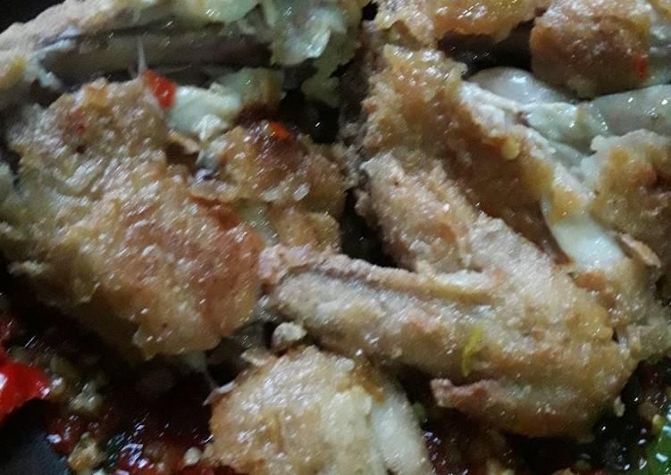 Ayam geprek rumahan