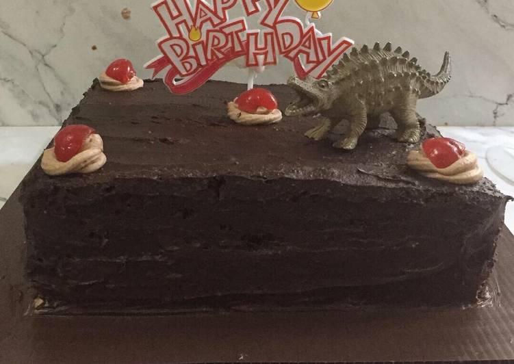 Brownies Double Chocolate Ganache (birthday cake)