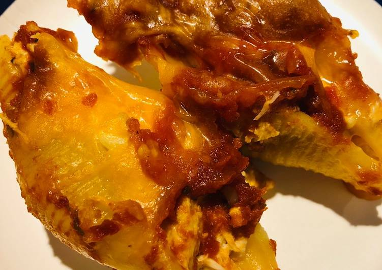 Shredded Chicken 🐔 Stuffed Shells