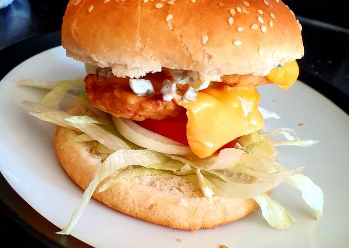 My garlic /chilli chicken fillet burger