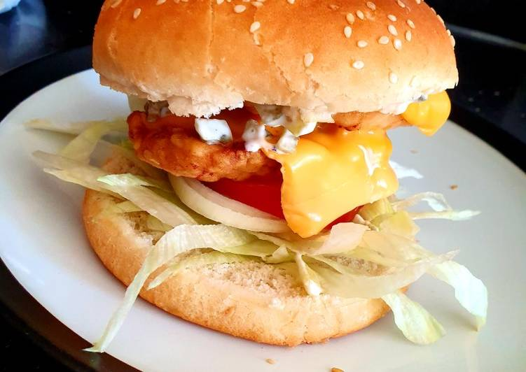 Easiest Way to Prepare Ultimate My garlic /chilli chicken fillet burger