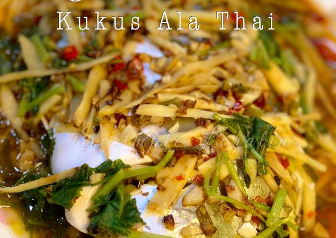 Cara Gampang Membuat Ikan Bawal Emas Kukus Ala Thai yang Enak Banget