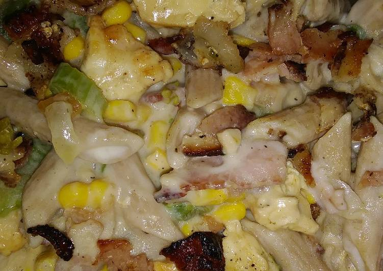 How to Prepare Appetizing Bacon chicken pasta