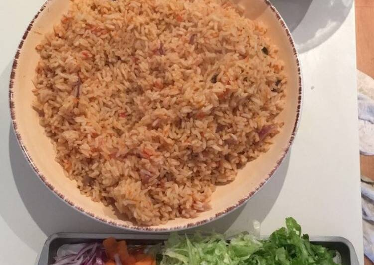 Simple Way to Make Perfect Jollof Rice, goat meat & Turkey
