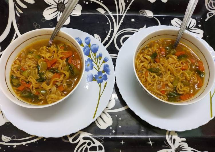 How to Make Homemade Noodles Soup