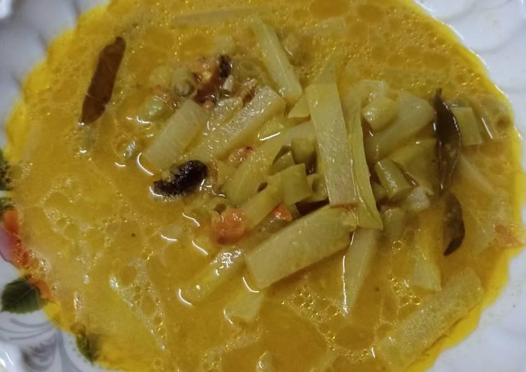 Sayur labu siam kacang panjang (sayur ketupat)