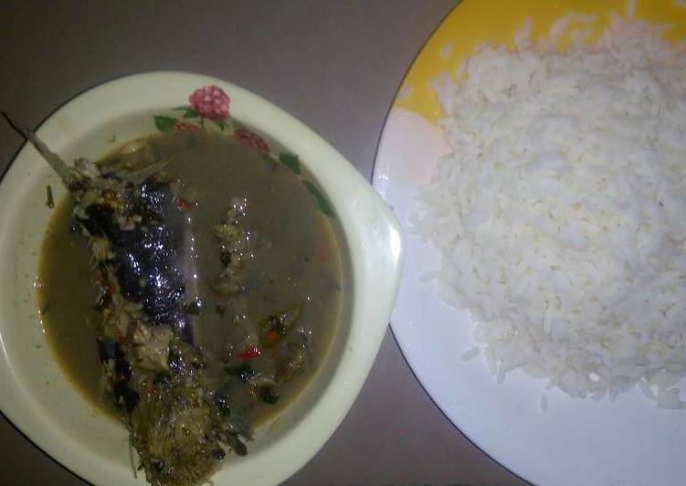 White Rice And Fresh Fish Pepper Soup Recipe By Annie Pius Cookpad