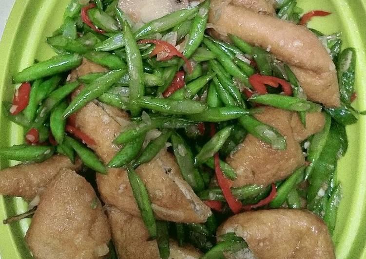 Tumis buncis dan tahu Sumedang, ide masak sederhana tapi enak