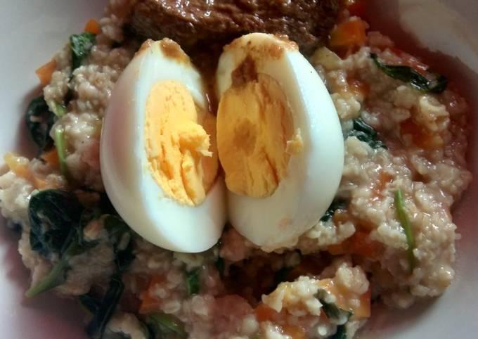 Bubur oat (defisit kalori)