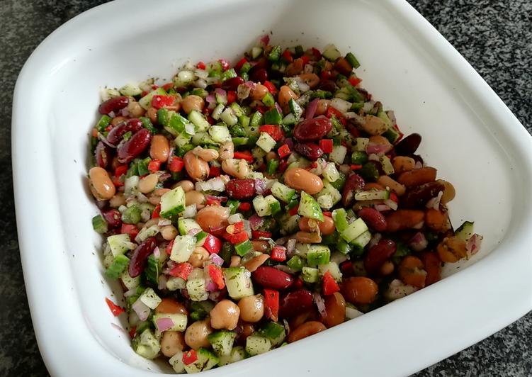 Recipe of Speedy Mixed bean salad