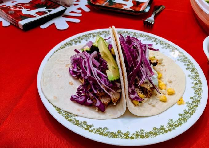 Grilled Cilantro Lime Corn Chicken Avocado Tacos