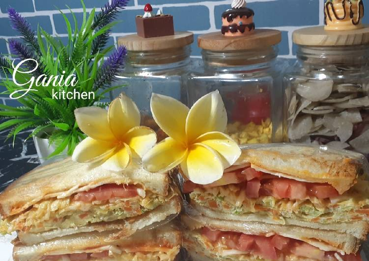 Resep Simple Sandwich🥪⁴ Top