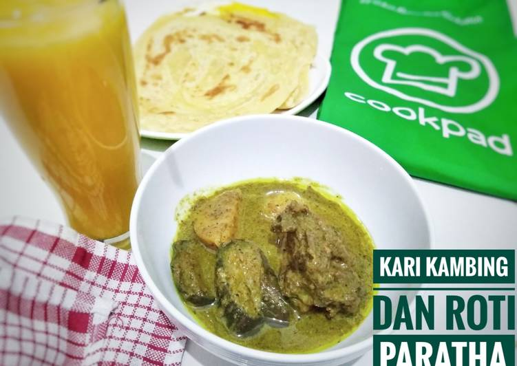 Kari kambing (no bau prengus) dan roti paratha