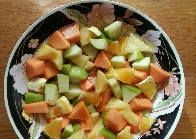 Steps to Prepare Super Quick Homemade Fruit salad