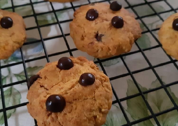 Pumpkin Choco Oat Cookies