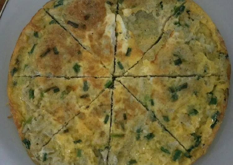 Omlet teri nasi