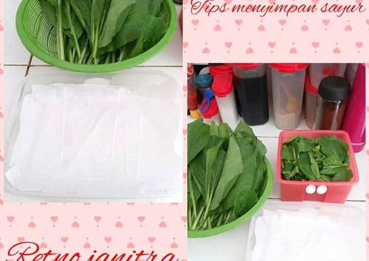 Tips Menyimpan Sayur