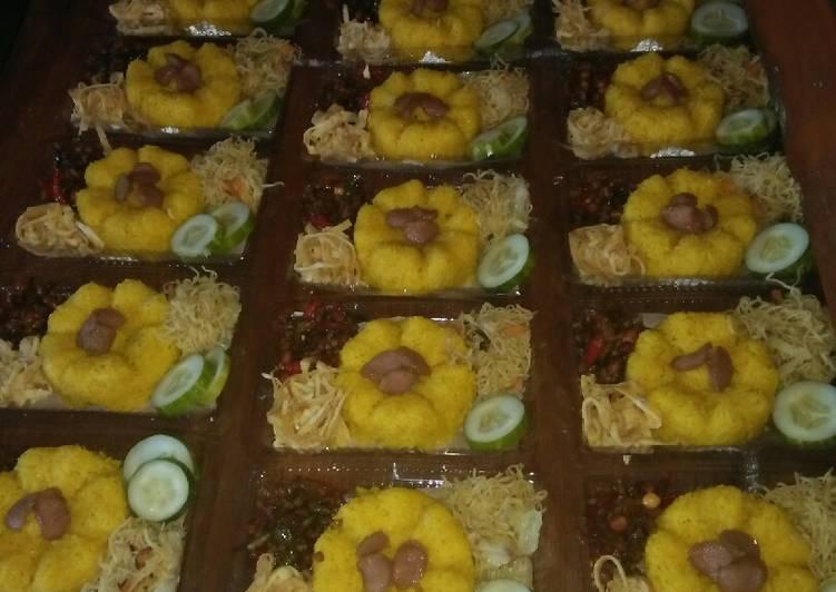 50 mika nasi kuning sederhana (+prkiraan harga bahan)