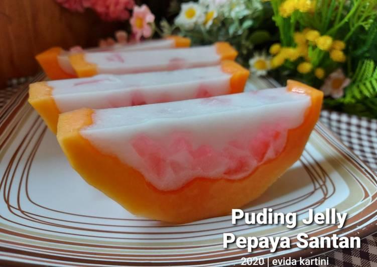 Puding Jelly Pepaya Santan