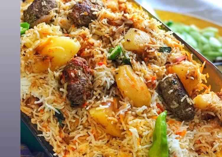How to Make Favorite Kabab karahi biryani