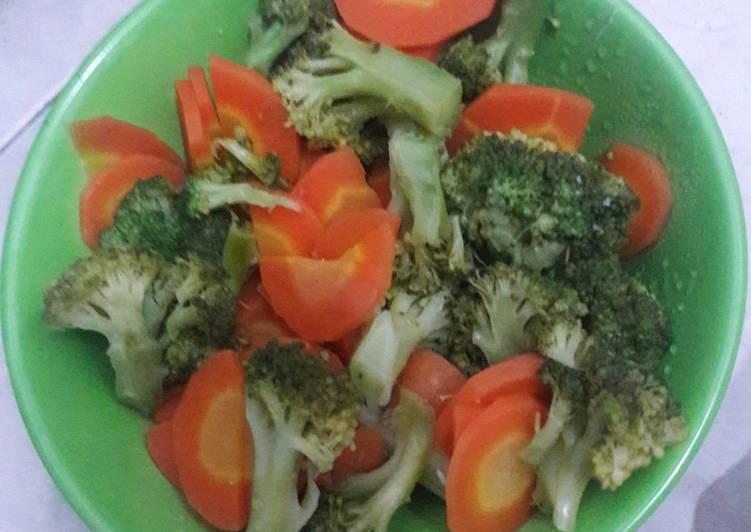 Resep Brokoli Wortel Kukus Oleh Pejuanghidup Cookpad