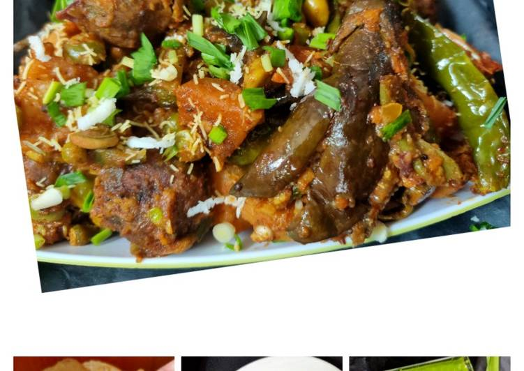 5 Minute Steps to Prepare Cooking Winter special Gujarati lunch - Undhiyu, Puri, Jalebi, chutney