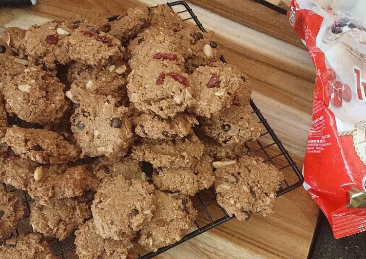 Oat Almond cranberries cookies