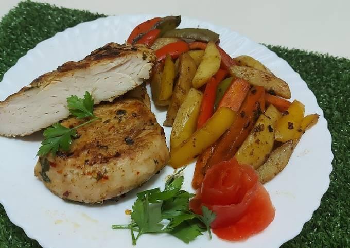 Chicken Steak with stir fried Vegetables