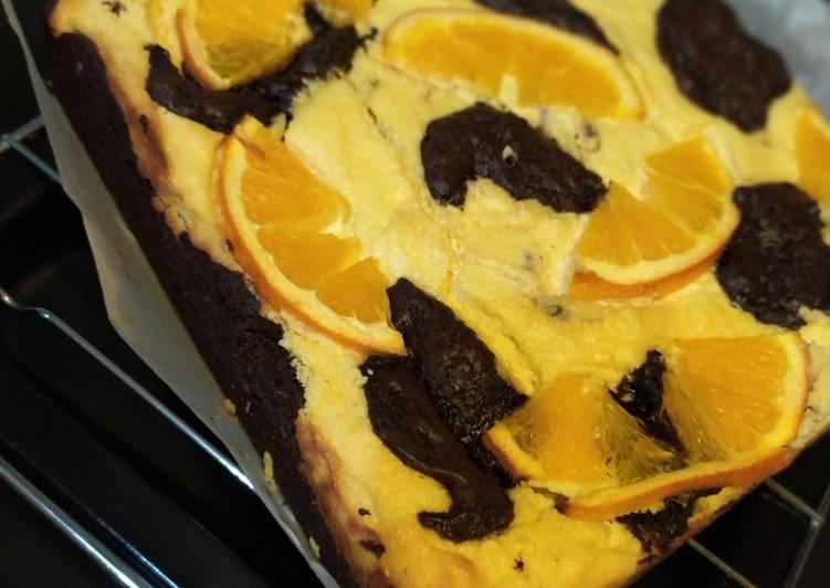 Orange cheese brownies