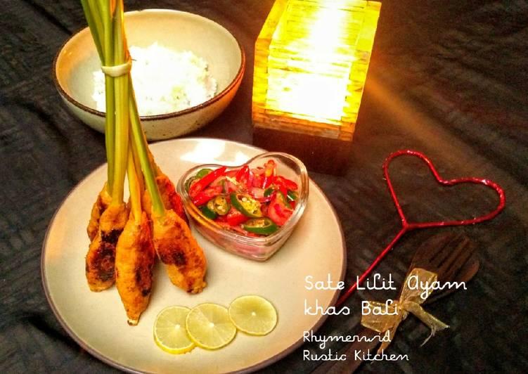Sate Lilit Ayam (Khas Bali)