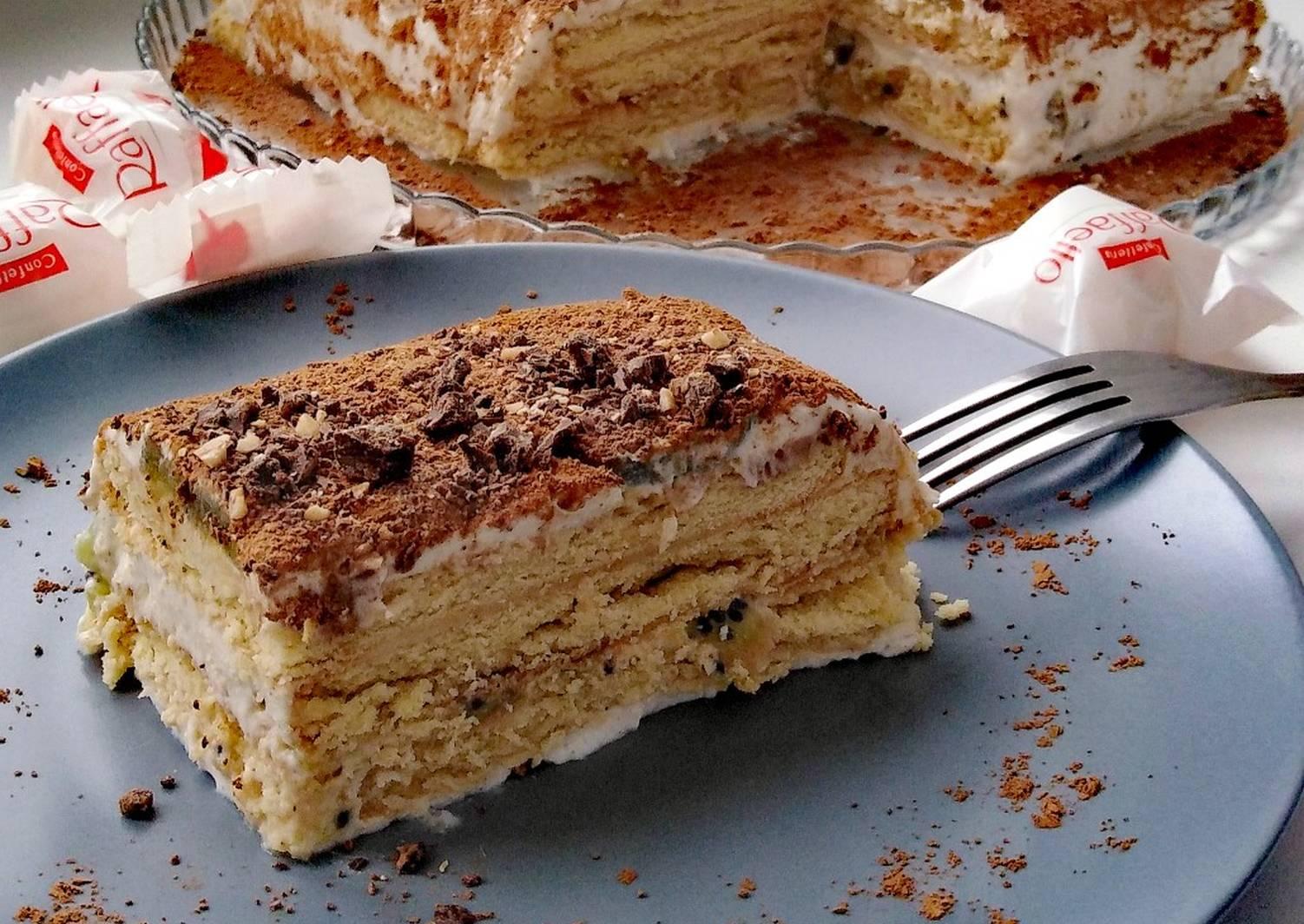 Торт из печенья рецепт с фото пошагово