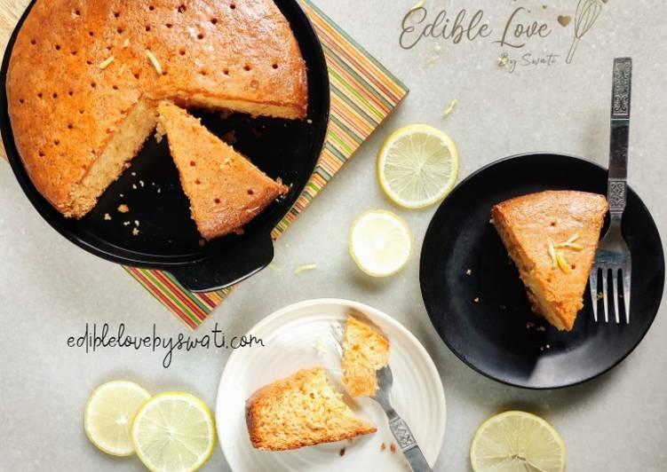 20 Minute Dinner Easy Super Quick Homemade Eggless Lemon Soaked cake