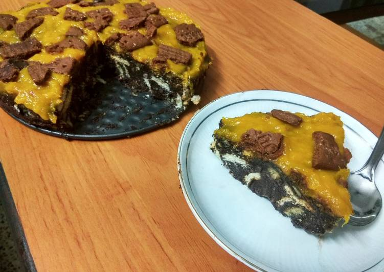 How to Prepare Perfect No bake biscuit cake