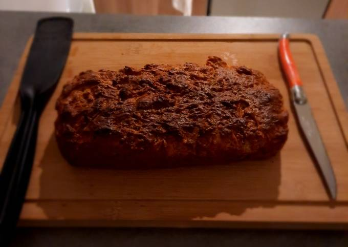 Cake salé jambon/gruyère sans œufs