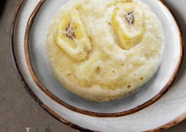 Bolu pisang kukus menul-menul (no mixer)