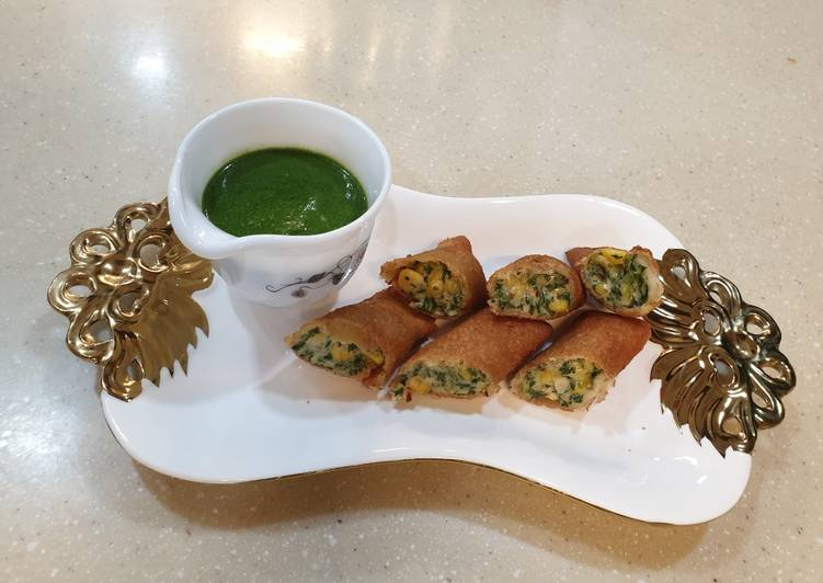 How to Cook Perfect Spinach corn cheese cigars