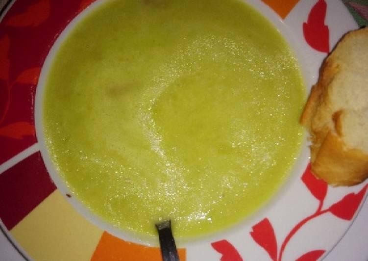 Recette Des La soupe aux petits pois et lardons