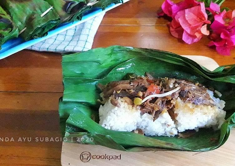 Nasi Bakar Tongkol Super Pedas