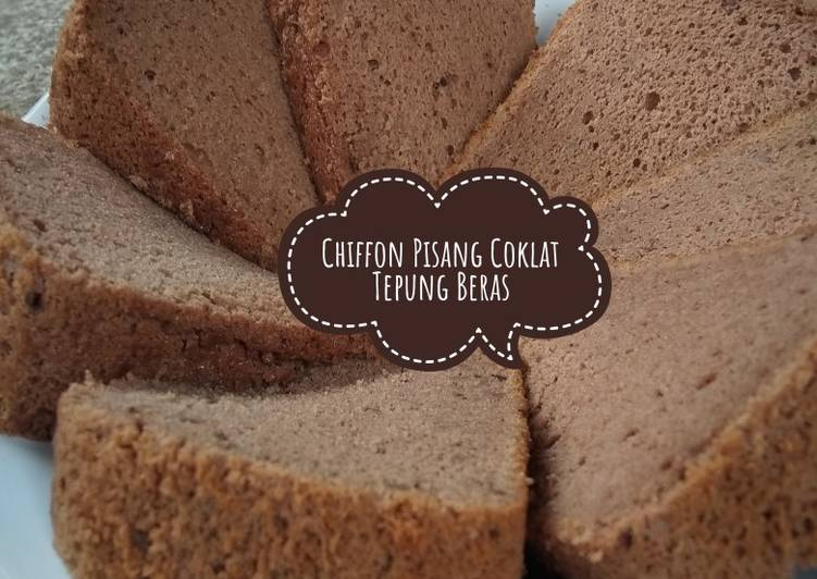Bolu Chiffon Pisang Coklat Tepung Beras #GA3week5 - cookandrecipe.com
