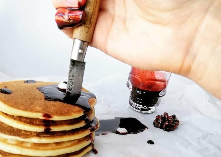 Recette Délicieuse Pancakes ensanglantés