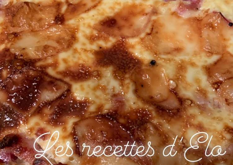 Quiche raclette/ lardons