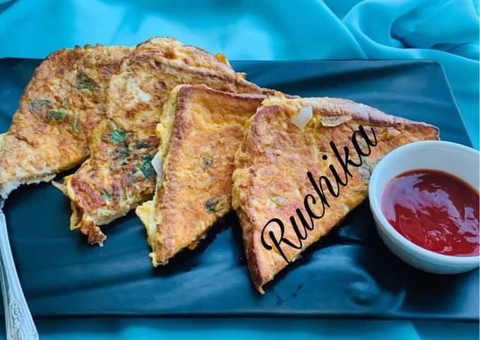 Cheesy Masala French Toast